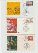 Bund 1962-1970 6 FDC