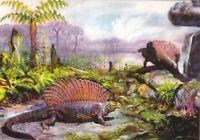 Edaphosaurus Ianthasaurus Permian Dinosaur Paleontology Russian modern postcard
