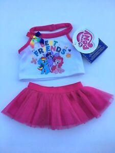 Build a Bear Teddy Bear Clothing- My Little Pony Best Friends Skirt Outfit -NEW