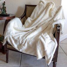Blanket Sherpa Throw Fleece Soft Bed Warm Flannel Luxury Throws Cream Large