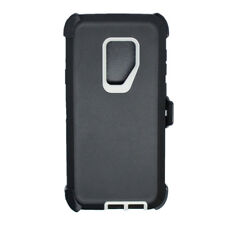 For Samsung Galaxy S9 Rugged Defender Case w/Clip fits Otterbox Black