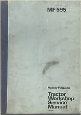 MASSEY FERGUSON TRACTOR MF595 & MF595 MKII WORKSHOP SERVICE MANUAL - MF 595