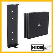 HIDEit 4P PlayStation 4 PS4 PRO Wall Mount Bracket Display (Black) HIDE IT