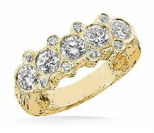 1.81 carat Round Diamond Wedding 14k Yellow Gold Ring Anniversary Band G color