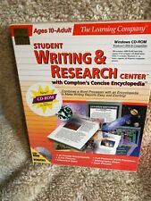 Student Writing & Research Center Pc Cd 1999, Learning Company, Encyclo, Atlas +