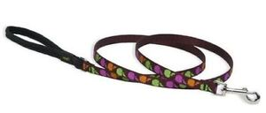 "Lupine Dog Leash Lead 1/2"" CANDY APPLE 4 Ft Brown Green Pink Orange New USA"