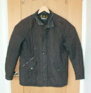 Barbour Mens Black Quilted Jacket Size M Medium Walking Outdoors