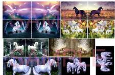 Van Murals Unicorn 1:64 WATER-SLIDE DECALS FOR HOT WHEELS SUPER VAN, MATCHBOX