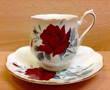 "Royal Albert Hampton Shape ""Sweet Romance"" Pattern Coffee Cup & Saucer."