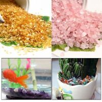 50pcs/set Aquarium Fish Tank Gravel Sand Natural Stones Color Crystal Landscape