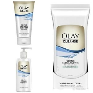 Olay Cleanse Bundle Gentle Foaming Cleanser and Facial Cloths Fragrance Free
