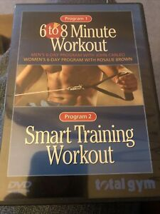 TOTAL GYM 6 to 8 Minute Workout + Smart Training Workout DVD 2 PROGRAMS Nice