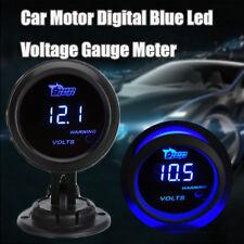 """2"""" 52mm Blue Digital LED Electric Volt Voltage Meter Gauge Boat Car AUTO 0~15V"""
