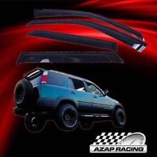 98 99 00 01 Dark Smoke Sun Window Visor 4Pcs Fits Honda CRV CR-V LX EX SE 4Dr