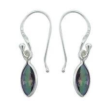 925 Sterling Silver Drop Dangle Earrings Mystic Topaz New Indian Fashion Jewelry