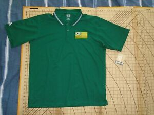 MENS LARGE GREEN ADIDAS PACKERS ADORNED POLO SHIRT - NWT