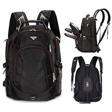 "Laptop Gamer Backpack (Black) 18.4"" with Comfort Strap & Pockets by Bonvince"