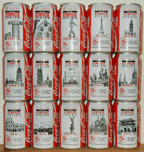 COCA COLA 15 cans OLYMPIC GAMES CITIES 1992 set from HOLLAND (33cl)