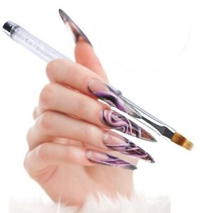 UV Gel Nail Art Gradient Ombre Painting Pen Drawing Brush Rhinestone Handle Tool