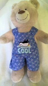Build a bear BAB boys girls dungarees  fit 40cm length teddy inc PPatch handmade