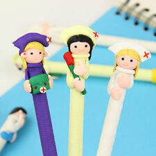 5Pcs Creative Character Doctor Nurse Polymer Pen Office School Supply Stationery