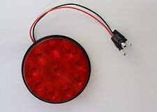 """ONE Glo Brite 4"""" Round Red Grommet Mount Turn Stop Tail 10 LED Trailer Light"""