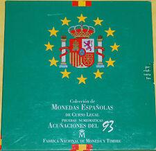 España 1993 Coleccion de Monedas Españolas De Curso Legal FNMT Pesetas