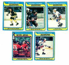 1X RECORD BREAKER STANLEY CUP 1979-80 opc COMPLETE SET O Pee Chee GVG BOSSY #161