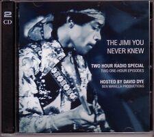 """JIMI HENDRIX """"The Jimi You Never Knew"""" US Radio Promo 2CD Set RAR"""