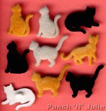 Fieltro país Gatos-Gatito Kitty Meow Pet Animal Piel Novedad vestirla Botones