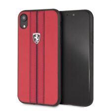 Ferrari Scuderia Off Track Leder iPhone XR SCHUTZHÜLLE Back Case Cover Rot