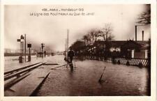 CPA PARIS INONDATION 1910. 498 La Ligne des Moulineaux au Quai de Javel (562050)