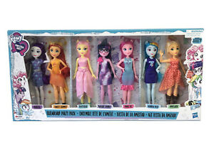 "My Little Pony Equestria Girls Friendship 7 Doll Party Pack Set 11.5"" Hasbro NEW"