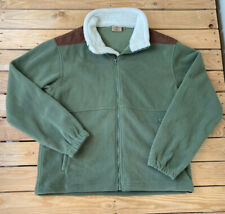 Tag Outdoor Clothing Men's Fleece zip Up Jacket Size L Green Brown R2
