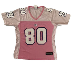 Reebok NFL Girls Youth Sz M NY Giants Shockey Jersey Pink