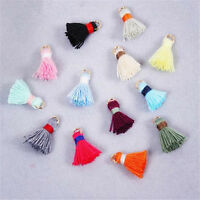 Tassel Charm Necklace Pendant Metal Ring 20mm Jewelry Making DIY Crafts 20 pcs