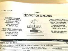 2012 MISS USA  Production Organization Show Binder Judge Rob Kardashian