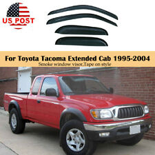 Fit For Toyota Tacoma Extended Cab 1995 2004 Window Visor Shade Door Covers Vent Fits 1996 Toyota Tacoma