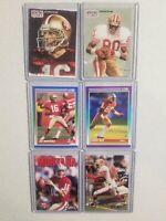 49ers Greats,  JOE MONTANA & JERRY RICE LOT(6) HOF. Early 90s