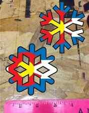 CO Colorado State Flag Snowflake Sticker Ski Snowboard Sticker Decal- 2 for 1