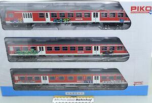 Piko Nahverkehr Graffit Regio DB m Steuerwagen 3-tlg 73034 H0 1:87 OVP NEU HB1 µ