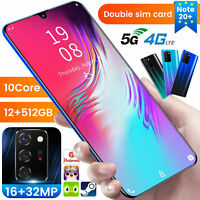 Cheap 6.5'' Android10 Smartphone 12+512GB Unlocked Mobile Phone Dual SIM 10 Core
