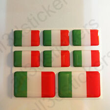 Pegatinas Italia Pegatina Bandera Italiana Vinilo Adhesivo 3D Relieve Resina