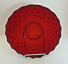 "American Ruby Red by Fostoria Torte Plate Platter Round 13.5"" Vintage EUC"