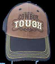 Cowboy Tough BaseBall Cap Hat Tribal Design Brown Black Mesh