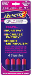 Stacker 3 XPLC 3 Weight Loss & Energy Booster 4ct Blister Brand New