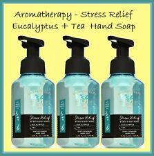 3 Bath & Body Works EUCALYPTUS TEA - STRESS RELIEF Gentle Foaming Hand Soap  LOT