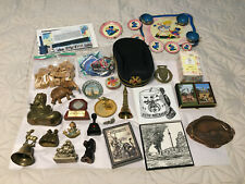 Junk Drawer Lot Freemason Parts Unusual Pieces Vintage Collectibles Bells etc