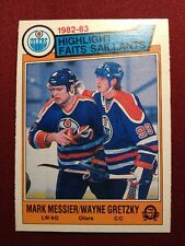1983-84 OPC MESSIER/GRETZKY #23 OILERS HIGHLIGHT NM-MT