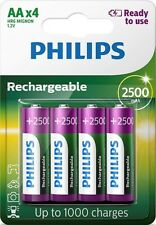 Philips AA 2500 mAh Rechargeable Battery Ready To Use - Pack of 4 | HR6 NiMH LR6